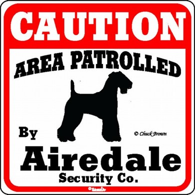 Raining Cats and Dogs | Airedale Caution Sign, the Perfect Dog Warning Sign