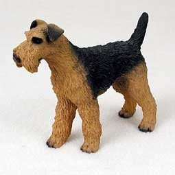 Raining Cats and Dogs | Airedale Terrier Figurine