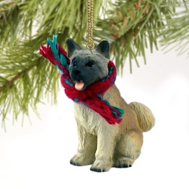 Raining Cats and Dogs | Akita Dog Christmas Ornament
