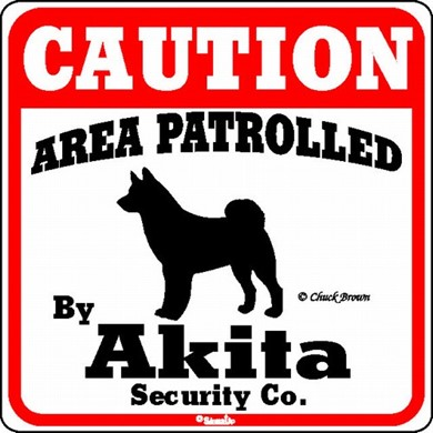 Raining Cats and Dogs | Akita Caution Sign, the Perfect Dog Warning Sign