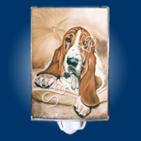 Raining Cats and Dogs | Basset Hound Night Light