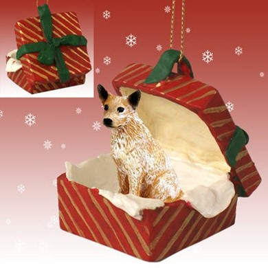 Raining Cats and Dogs | Australian Cattle Dog Gift Box Christmas Ornament