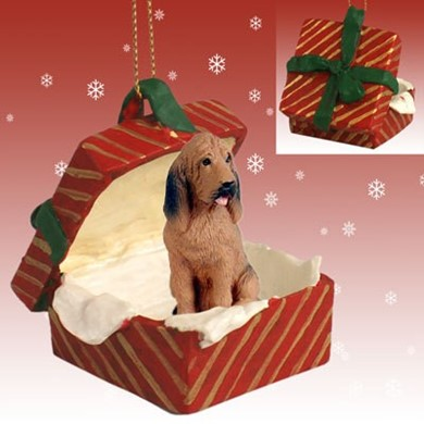 Raining Cats and Dogs | Bloodhound Gift Box Christmas Ornament