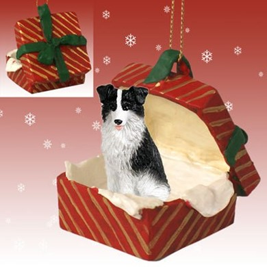 Raining Cats and Dogs | Border Collie Gift Box Christmas Ornament