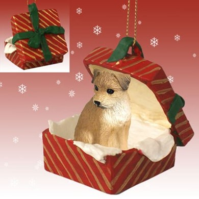 Raining Cats and Dogs | Border Terrier Gift Box Christmas Ornament