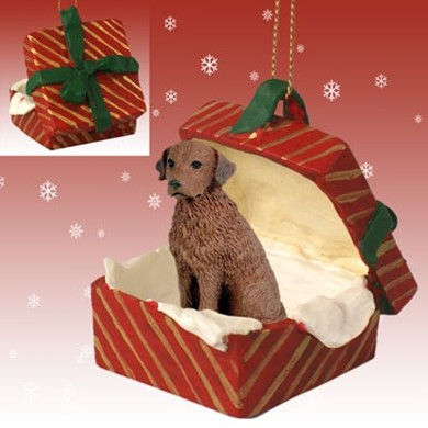 Raining Cats and Dogs | Chesapeake Bay Retriever Gift Box Christmas Ornament