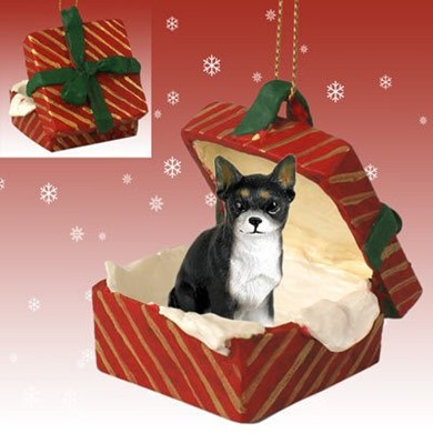 Raining Cats and Dogs | Chihuahua Gift Box Christmas Ornament