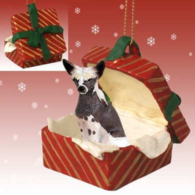 Raining Cats and Dogs | Chinese Crested Gift Box Christmas Ornament