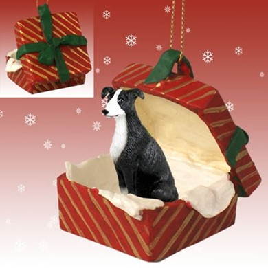 Raining Cats and Dogs | Greyhound Gift Box Christmas Ornament