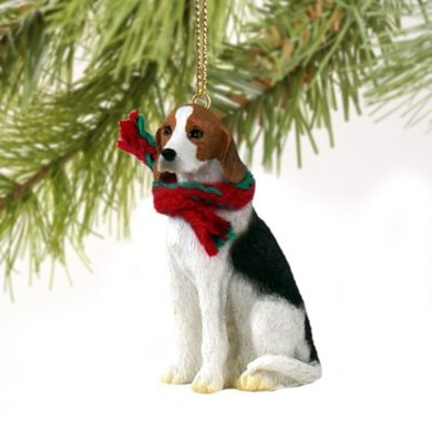 Raining Cats and Dogs | American Foxhound Dog Christmas Ornament