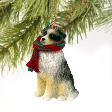 Raining Cats and Dogs | Australian Shepherd Dog Christmas Ornament