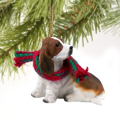 Raining Cats and Dogs | Basset Hound Dog Christmas Ornament