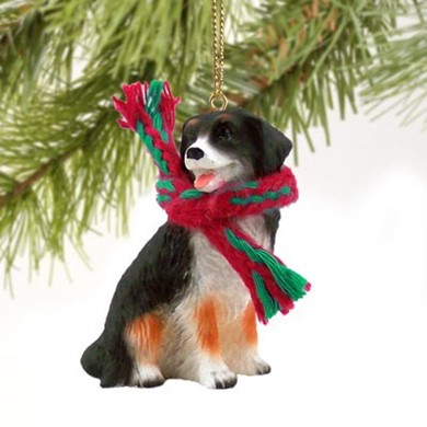 Raining Cats and Dogs | Bernese Mountain Dog Christmas Ornament