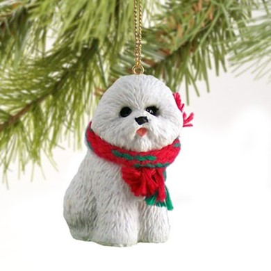 Raining Cats and Dogs | Bichon Frise Christmas Ornament