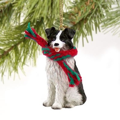 Raining Cats and Dogs | Border Collie Christmas Ornament