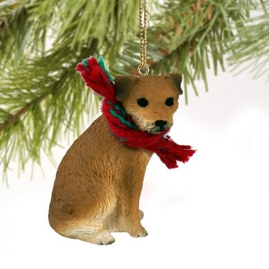 Raining Cats and Dogs | Border Terrier Christmas Ornament