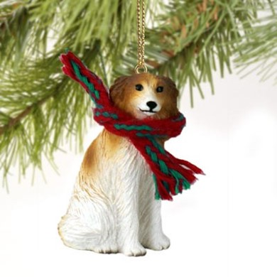 Raining Cats and Dogs | Borzoi Christmas Ornament