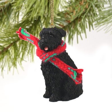 Raining Cats and Dogs | Bouvier Christmas Ornament