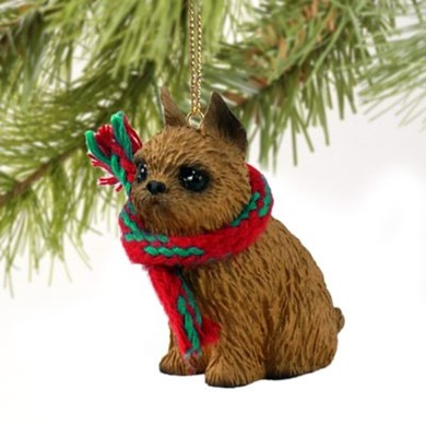 Raining Cats and Dogs | Brussels Griffon Christmas Ornament