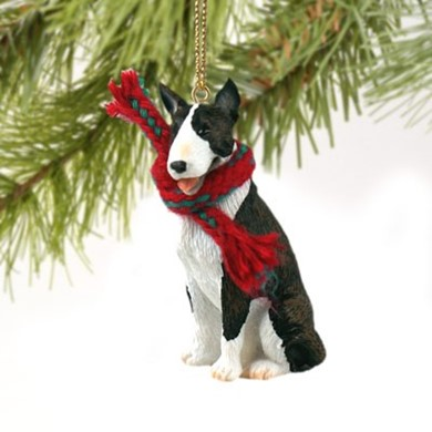 Raining Cats and Dogs | Bull Terrier Christmas Ornament