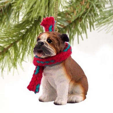 Raining Cats and Dogs | Bulldog Christmas Ornament