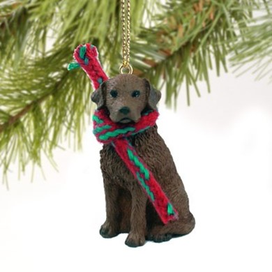 Raining Cats and Dogs | Chesapeake Bay Retriever Christmas Ornament