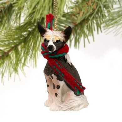Raining Cats and Dogs | Chinese Crested Christmas Ornament