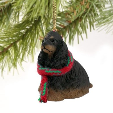 Raining Cats and Dogs | Cocker Spaniel Christmas Ornament