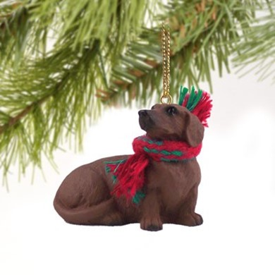 Raining Cats and Dogs | Dachshund Christmas Ornament