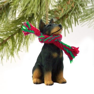 Raining Cats and Dogs | Doberman Christmas Ornament