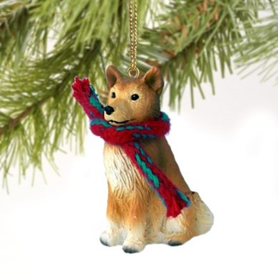 Raining Cats and Dogs | Finnish Spitz Christmas Ornament