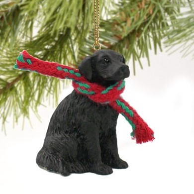 Raining Cats and Dogs | Flat Coated Retriever Christmas Ornament