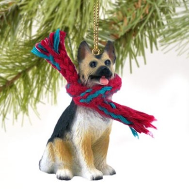 Raining Cats and Dogs | German Shepherd Christmas Ornament