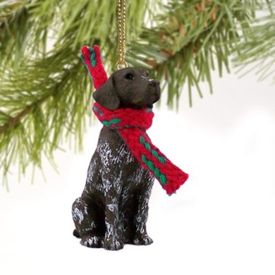 Raining Cats and Dogs | German Shorthaired Pointer Christmas Ornament