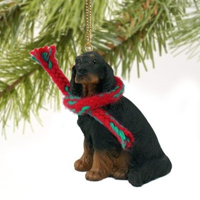 Raining Cats and Dogs | Gordon Setter Christmas Ornament