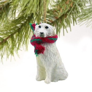 Raining Cats and Dogs | Great Pyrenees Christmas Ornament
