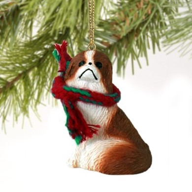 Raining Cats and Dogs | Japanese Chin Christmas Ornament