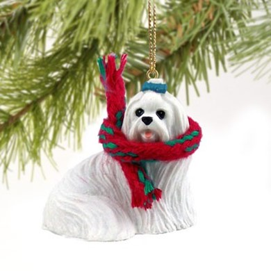 Raining Cats and Dogs | Maltese Christmas Ornament