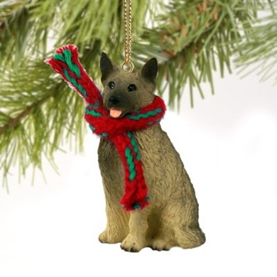 Raining Cats And Dogs Norwegian Elkhound Christmas Ornament