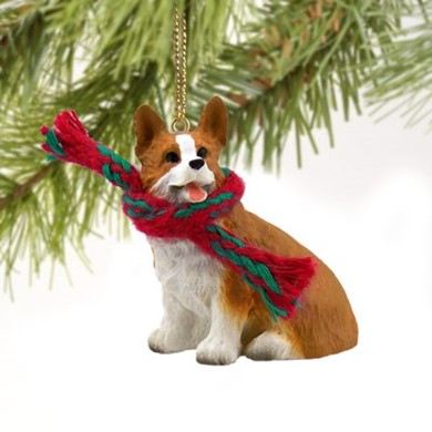 raining cats and dogs welsh corgi pembroke christmas ornament - Corgi Christmas Ornaments