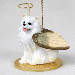 Raining Cats and Dogs | American Eskimo Angel Ornament