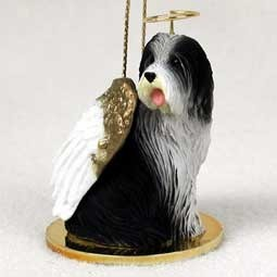 Raining Cats and Dogs | Bearded Collie Angel Ornament