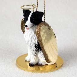 Raining Cats and Dogs | Border Collie Angel Ornament