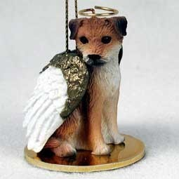 Raining Cats and Dogs | Border Terrier Angel Ornament