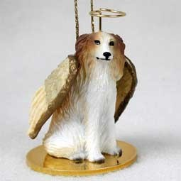 Raining Cats and Dogs | Borzoi Angel Ornament