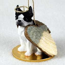 Raining Cats and Dogs | Boston Terrier Angel Ornament