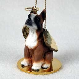 Raining Cats and Dogs | Boxer Dog Angel Ornament