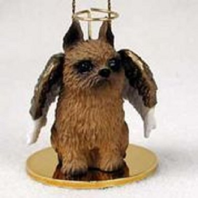 Raining Cats and Dogs | Brussels Griffon Dog Angel Ornament
