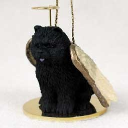 Raining Cats and Dogs | Chow Dog Angel Ornament