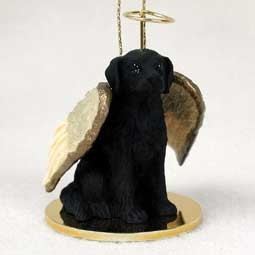 Raining Cats and Dogs | Flat Coated Retriever Angel Ornament